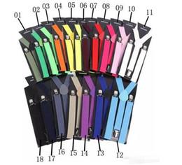"$enCountryForm.capitalKeyWord Australia - ""3000pcs High Quality Candy Color Unisex Adjustable Pants Y-back Suspender Brace Elastic Clip-on Belt Adjustable Braces Suspenders Free Ship"