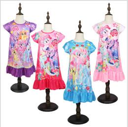 $enCountryForm.capitalKeyWord Australia - Ins Kids Girls Summer Dress Little Ponys Cartoon Dresses Designer Toddler Skirt Sleep Home Clothing Pajamas Children Nightdress B361