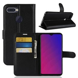 f9 UK - Litchi Texture Horizontal Flip Leather Case with Wallet & Holder & Card Slots For OPPO F9   OPPO A7x