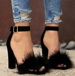 $enCountryForm.capitalKeyWord Australia - Women Designer Sandals Best Selling Black Brown 2Color Avaliable Summer Fashion Rabbit Hair Sandal Ladies Shoes NewEST Arrival Free Shipping
