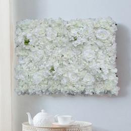 $enCountryForm.capitalKeyWord Australia - 40*60cm white Artificial Flower Wall Wedding Background Decoration rose hydrangea Lawn Pillar Road Lead Flower Silk Rose