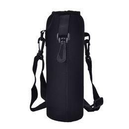 $enCountryForm.capitalKeyWord Australia - 1000ML Water Bottle Cover Bag Pouch w Strap Neoprene Water Bottle Carrier Insulated Bag Pouch Holder Shoulder Strap Black