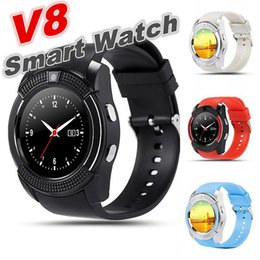 Bluetooth Smart Watch Sim Australia - V8 Smart Watch Clock With Sim TF Card Slot Bluetooth suitable for ios Android Phone Smartwatch high quality wristband