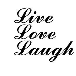 $enCountryForm.capitalKeyWord Australia - Live Love Laugh Car Auto Window High Quality Vinyl Decal Sticker Funny Personality Stickers Rear Window Car Sticker