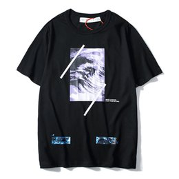 $enCountryForm.capitalKeyWord Australia - 19ss hot high quality big name summer men and women wave oil painting short sleeve couple models T-shirt fashion casual short sleeve
