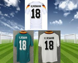 Discount germany world cup jersey - Retro VINTAGE CLASSIC 1990 1994 World Cup germany soccer KLINSMANN Matthäus soccer jerseys Home White top thai camisas d
