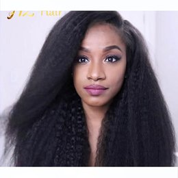 net wigs NZ - JYZ Peruvian Glueless Kinky Straight Full Lace Wig For Black Women 130 Density Lace Front Wig Elastic Net With Combs