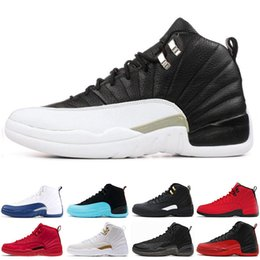 55280ac44123d9 Rushed 12 12s men Basketball Shoes Sneakers black white PLAYOFF THE MASTER  Gym red gamma blue 12s mens sports shoes 7-13