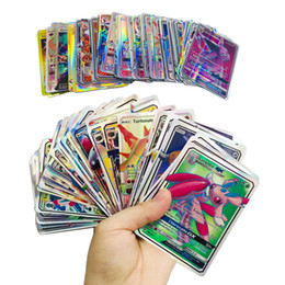 Discount shine papers - Playing Trading Cards Games Pikachu EX GX Mega Shine English Cards Anime Poket Monsters Cards No repeat 100pcs lot