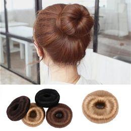 Hair Styler Roller Australia - 1pc Fashion Ponytail Donut Bun Ring Hair Styler Elastic Wrap Holder Tool Rollers Hair Accessories