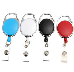 Reel Ring id caRd online shopping - 200 Retractable Pull Key Ring Chain Reel ID Lanyard Name Tag Card Badge Holder Reel Recoil Belt Key Ring Clip