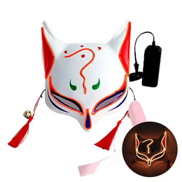glowing led costume Australia - Halloween LED Mask Purge Masks Election Mascara Costume DJ Party Light Up Masks Glow In Dark 10 Colors To Choose