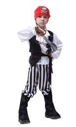 pirates caribbean movie costumes UK - Shanghai Story Halloween cosplay costume Children's Skull pirate clothing kids Pirates of the Caribbean dress clothes COS