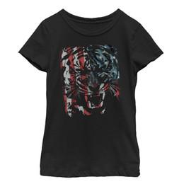 Cosplay Flags Australia - Lost Gods Tiger Growl American Flag Girls Graphic T Shirt fear cosplay liverpoott tshirt