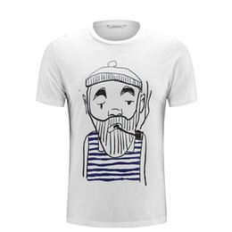 0305a009 mens designer t shirts mens t shirts New Men's Short Sleeves have a old men  smoking pic and many other product the chest polo shirts LL-1554