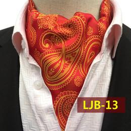 bee9b2975d36 20Colors Hot Sale Ascot Tie Cravat Men Neck Tie Satin Self Tie for Wedding  Newest Red Black Blue Rose Gold Dots Ascot Ties