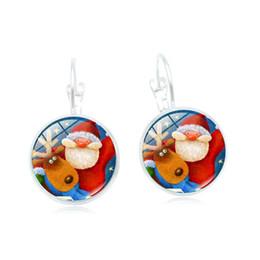 Copper Earrings Hooks UK - 2019 new creative earrings Christmas series retro time gemstones variety of pattern earrings ear hooks