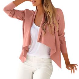 $enCountryForm.capitalKeyWord Australia - Women Ladies Long Sleeve Coat Open Front Jacket Outwear Loose Top Slim Sweater Coat Female Tops