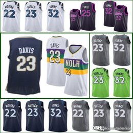 5372ec6c1 2019 City TIMBERWOLVES Wiggins Derrick Andrew Rose MINNESOTA Jersey  Pelicans Davis 32 Karl-Anthony Anthony Towns New Orleans Earned Edition