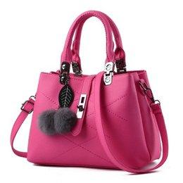 Single Hair Weave UK - Hot slae European and American hair ball handbag simple handbag diagonal bag fashion handbag unilateral hand