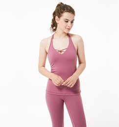 Sex Yoga Pants UK - Sex Women Gym Yoga Sports Breathable Sleeveless Singlets for Running Training Tank Tops Vest Fitness Running Loose Quick Dry Tank Tops Sing