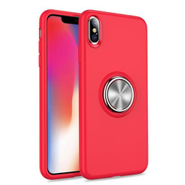 $enCountryForm.capitalKeyWord Australia - Iphone XR Liquid Silica Gel Magnetically Absorbed Metal Car-mounted Finger Ring Bracket TPU for New Type of iPhone X Cell Shell