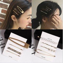 $enCountryForm.capitalKeyWord NZ - 3pcs 4pcs 5pcs Metal Pearl Hairpin Combination Bangs Clip Side Clip Card Simple Hair Clips Barrettes Headwear Hair Styling