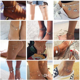 $enCountryForm.capitalKeyWord Australia - 20 styles Summer Beach Turtle Shaped Charm Rope String Anklets For Women Ankle Bracelet Woman Sandals On the Leg Chain Foot Jewelry ALXY02