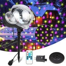 245e7329b5e LED Proyector Láser Lámparas Estrellas Corazón Nevadas Efecto romántico Luz  de escenario Fiesta de Navidad Decoración navideña Exterior IP65 Luz