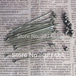 brooch bulk wholesale Australia - bulk 500pcs 60mm antique bronze sharp tip safety pins with stopper brooch diy findings