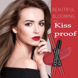 Kiss Proof Lip NZ - DNM 19 Colors KISS PROOF Sexy Beauty Waterproof Lipstick Pen Lasting Lipstick Gift 1Pcs Pencil Lip Comestic Makeup