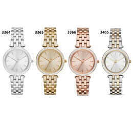 22c112f46189 New Quartz Movement Watch 3364 3365 3366 3405watch Ladies Silver Gold  Wristwatch Stainless Steel Strap