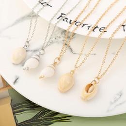 $enCountryForm.capitalKeyWord Australia - Bohemian Sea Shell conch Pendant necklace For Women beach Seashell charm Gold Silver chains Female Boho Fashion Jewelry