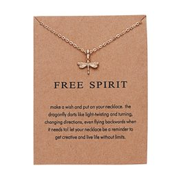"$enCountryForm.capitalKeyWord Australia - Fashion Jewelry Reminder ""Free Spirit"" Gold-color Dragonfly Pendant Necklace Women Chistmas New Year Gifts"