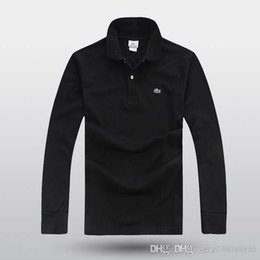 Double collar shirt men online shopping - 2019 spring summer mens Designer Dress shirt men s Long Sleeve casual Shirts crocodile shirts men fashion polo shirts