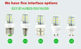 Coolest umbrella online shopping - SMD5730 Led Light Bulbs GU10 E27 E14 B22 G9 Led Corn Lights W W W W Led Spot Lights Degree AC V