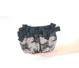 Black Lipsticks Australia - Black lace hand make-up bag small size lovely portable powder powder lipstick storage bag cosmetics storage bag