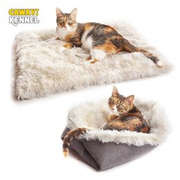 pp housing Australia - CAWAYI KENNEL Dog Pet Plush House Products dual-use Bed For Dogs Cats Small Animals hondenmand panier chien legowisko dla psa T200618