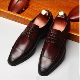 $enCountryForm.capitalKeyWord NZ - Square Toe High-end Business Formal Oxfords Shoes For Man 2019 Top Quality Mens Wedding Dress Shoes Italian Leather Shoes
