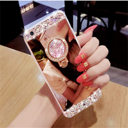 crystal clear cell phone Australia - Clear Luxury Crystal Glitter Cell Phone Case Diamond Mirror TPU Back Case Protective Phone Covers Kickstand For Iphone X XR MAX Phone Shell