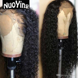 $enCountryForm.capitalKeyWord Australia - Curly Human Hair Wigs Malaysia Remy Full Lace Front Human Hair Wigs Thick Ends With Baby Hair Bleached Knots Slove Rosa VF25