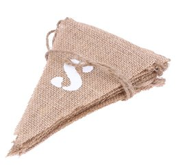 $enCountryForm.capitalKeyWord UK - JUST MARRIED Burlap Bunting Banner Wedding Party Decorations Photo Booth Props - Vintage Flag for Wedding Accessory