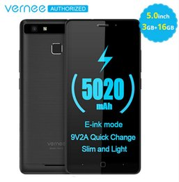 E Color Card Australia - Original Vernee Thor E Smartphone 4G LTE Mobile Phone 3GB 16GB Quick Charge 2A Cellphone Android 7.0 Touch phone 5020mAh Battery