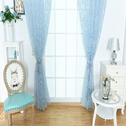 $enCountryForm.capitalKeyWord Australia - Home Use Phoenix Tail Pattern Curtain Window Gauze.Offer a modern and contemporary look and create a fantasy feelings.bule Sheer Curtains.