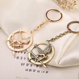 fashion jewelry holders 2019 - Keychain Bird Eagle Arrow Logo Keyring Key Holder Chain Ring Vintage Fashion Animal Jewelry Men Women Kid Wholesale disc