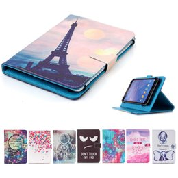 $enCountryForm.capitalKeyWord Australia - Cartoon Printed Universal 7 inch Tablet Case for Amazon Fire 7 2017 2015 Cases kickstand Flip Cover Cases PU Leather Bags