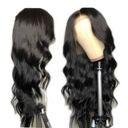 $enCountryForm.capitalKeyWord Australia - Body Wave Indian Remy Lace Front Wig For African American Pre Plucked Virgin Human Hair Full Lacefront Wigs Bleached Knots Baby Hair