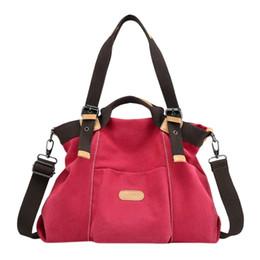82bcc667d0 Spring New Women Large Bags Canvas Handbag Casual Purse Tote Bag Top Handle  Handbags Crossbody Bags Women Fashion Totes
