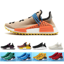 5023afae2 Cheap pale nude Human Race Running Shoes Mens Women Pharrell Williams HU TR Runner  Yellow Black White Red Green blue sports shoes 36-47