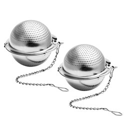 Wholesale Ball type tea infuser green tea making loose leaf strainer flower herb filter bag stainless steel high qulity